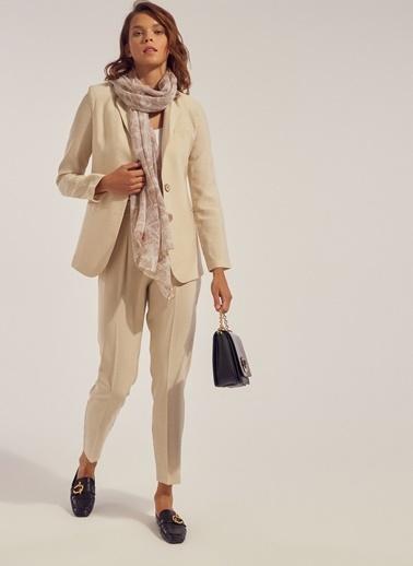 Monamoda Blazer Ceket Taş
